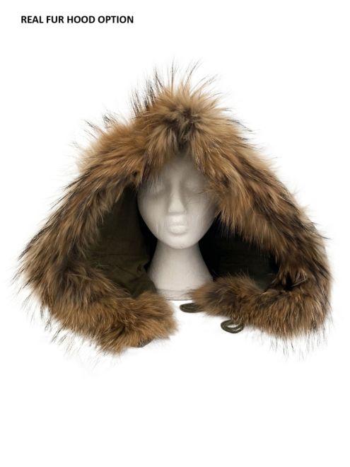 m51 real fur parka hood