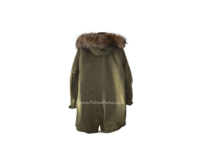 classic parka with real fur hood