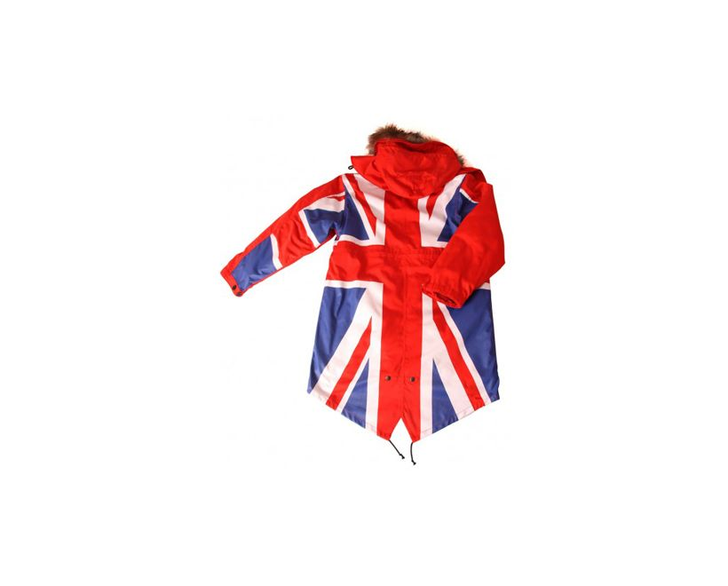 david watts union flag full colour fishtail parka back