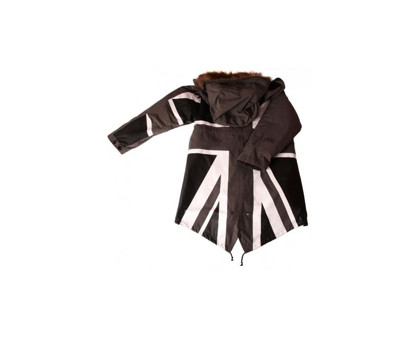 David Watts union flag mono parka back