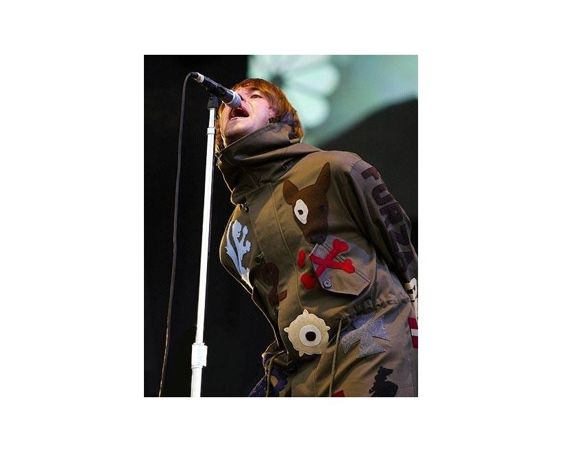 liam gallagher wearing fake london parka