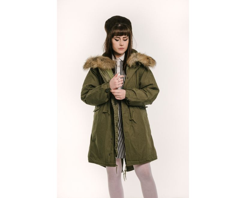 classic m51 parka female model front
