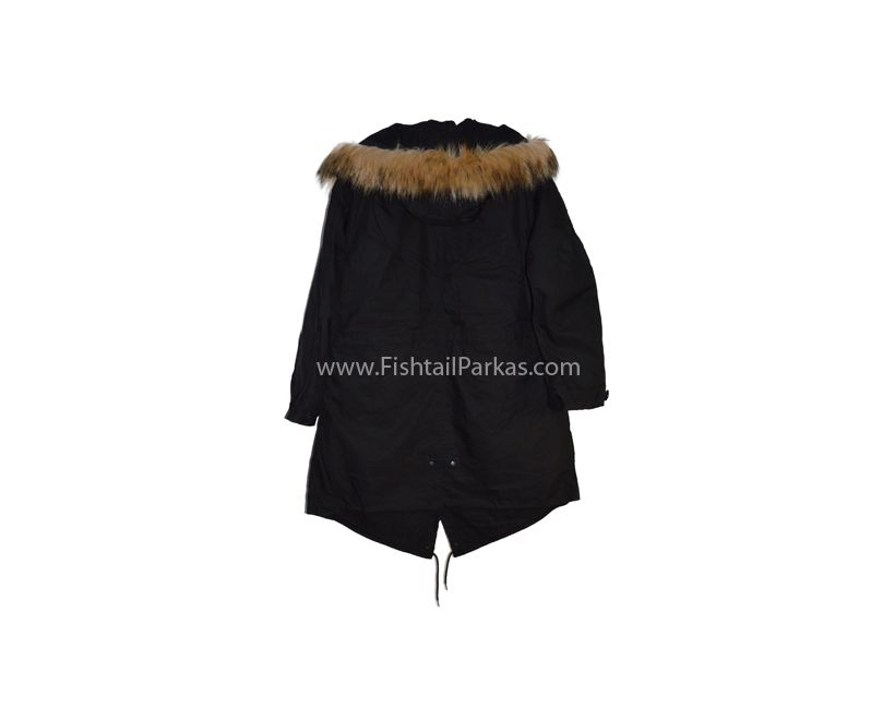 classic black m1951 parka back photo