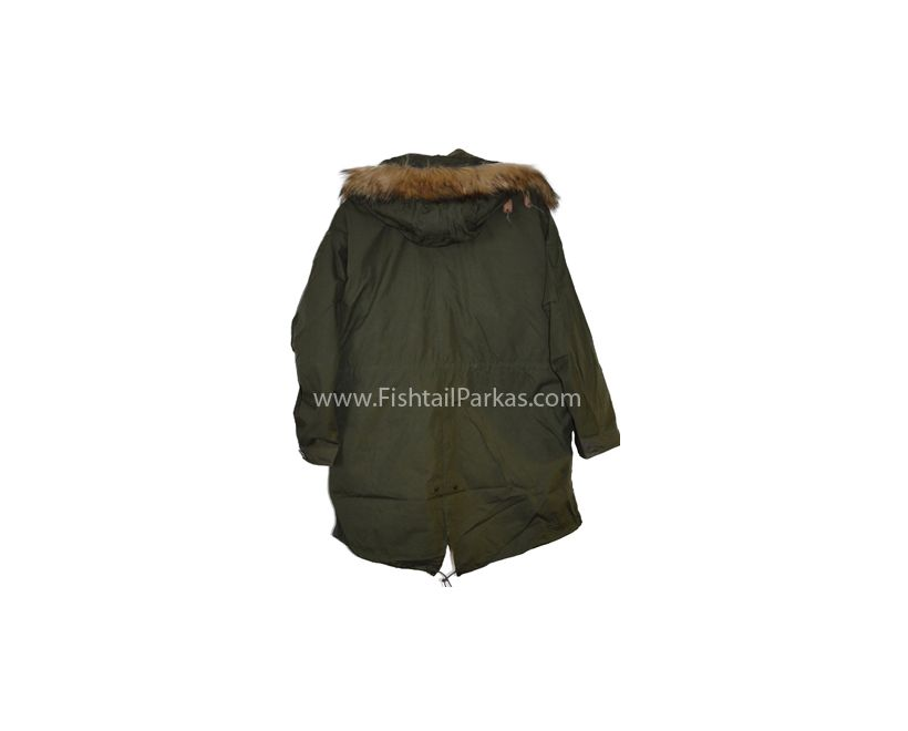 m65 parka with faux fur hood back