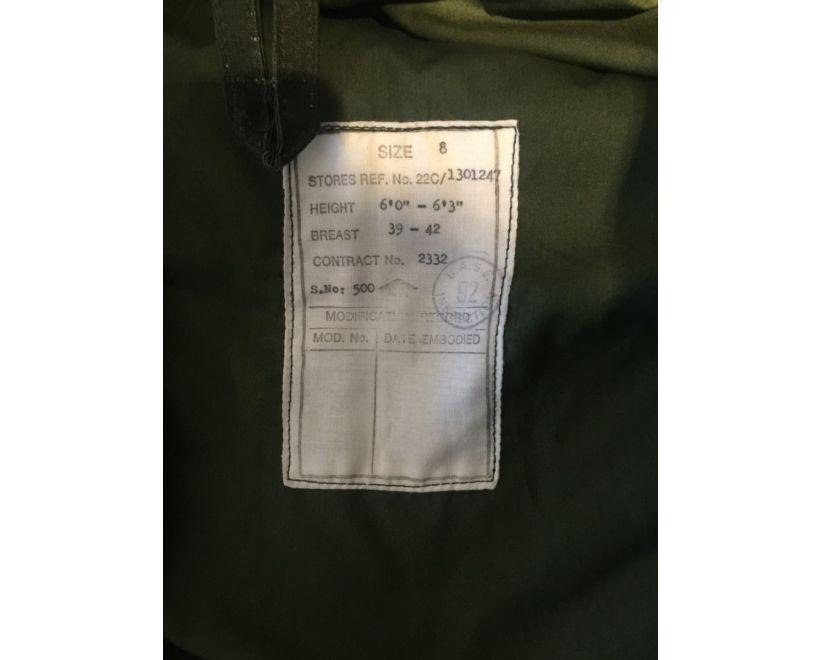 raf ventile parka size label