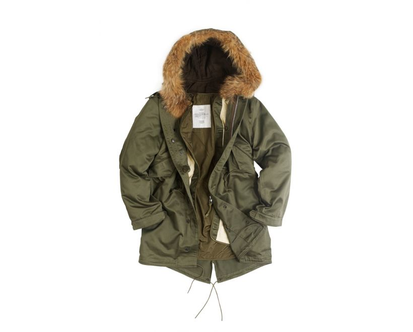 stonetail m51 fishtail parka open liner detail