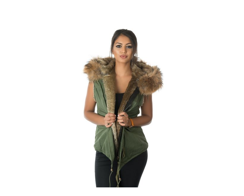stonetail natural fur gilet