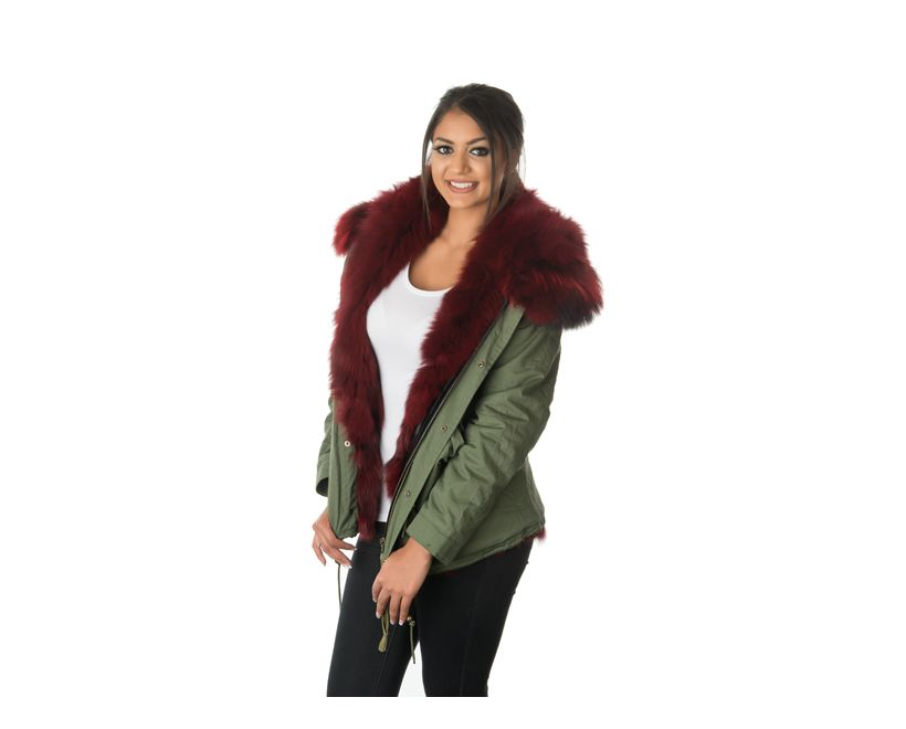 womens stonetail fur parka jacket