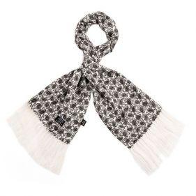 Tootal Silk Scarf Mono Black White