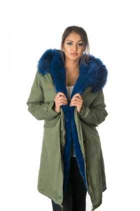 Stonetail Blue Fur Coat