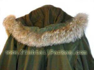 m-1951 fishtail parka real fur hood