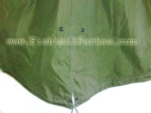 m51 parka close up of fishtail