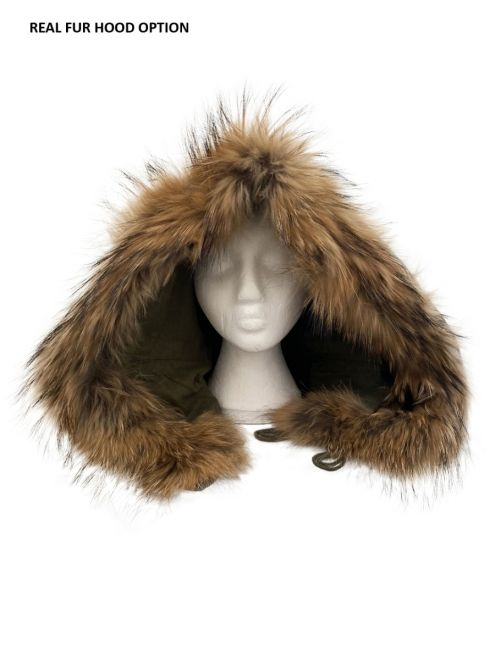m51 real fur parka hood