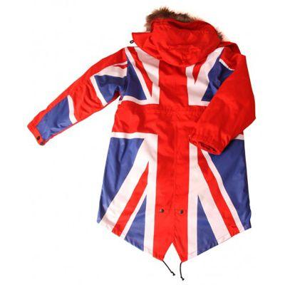 david watts union flag full colour fishtail parka back