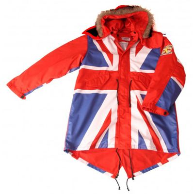 david watts union flag full colour fishtail parka