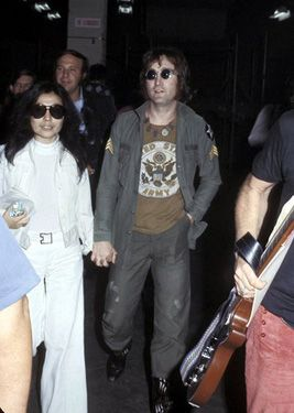 john lennon wearing army shirt
