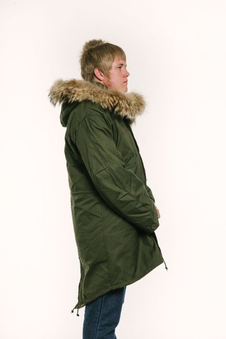 M65 parka male model side