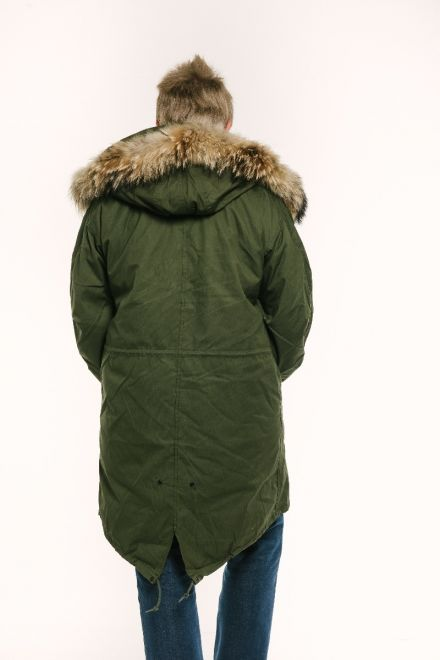 m65 parka male model back view