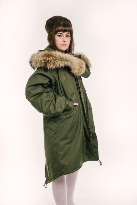 womens m65 fishtail parka side view