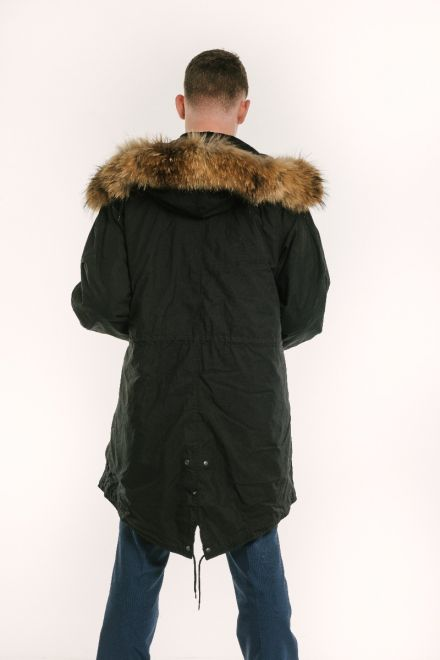 mens classic black m51 fishtail parka back