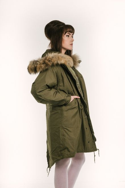 classic m51 parka female side view