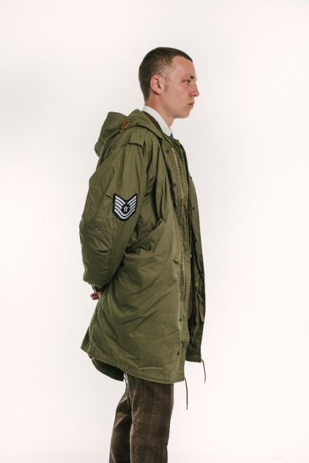 side view of the jam fishtail parka