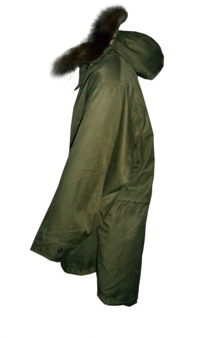 m-1948 prototype fishtail parka side view