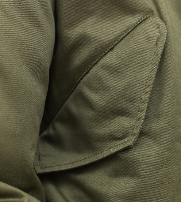 stonetail m1951 fishtail parka pocket detail