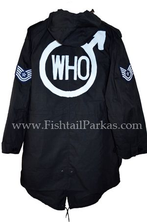 black quadrophenia fishtail parka back logo
