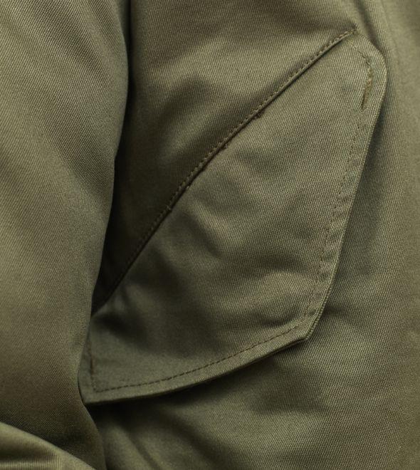 stonetail m1951 fishtail parka pocket detail