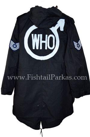 black quadrophenia fishtail parka back logo