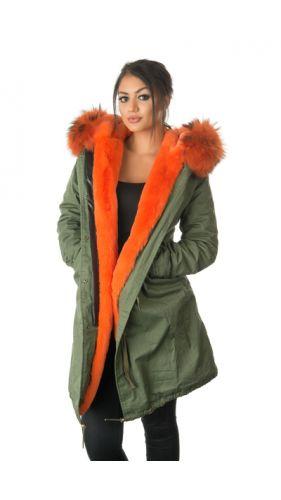 Stonetail Orange Fur Coat