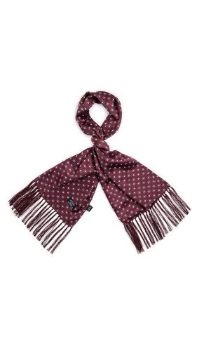 Tootal Silk Scarf Mod Target Wine