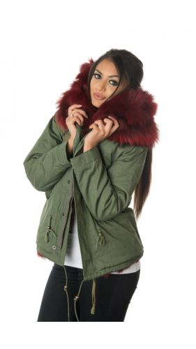 Stonetail Ruby Red Fox Fur Parka Jacket