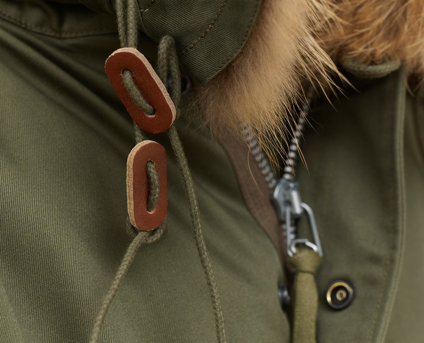 Close up detail of the Stonetail M51 Parka